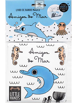 LIVRO AMIGOS DO MAR - LIVRO DE BANHO
